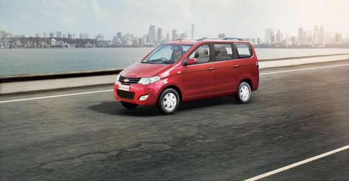 Facelifted Chevrolet Enjoy launched at 6.24 Lakhs