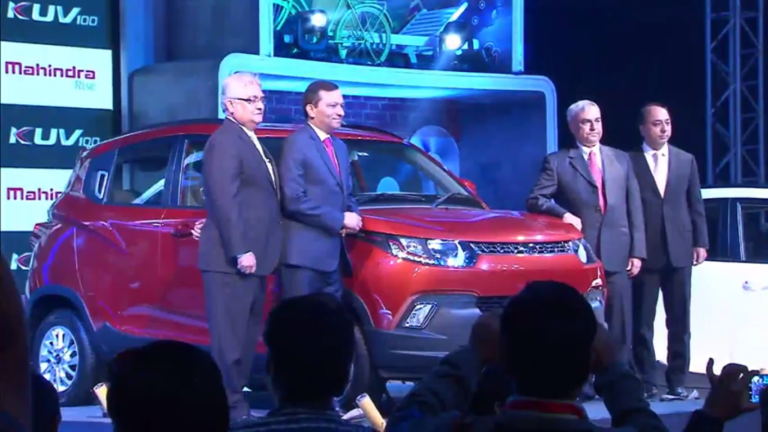 Mahindra Launches KUV100 at Rs 4.42 lac