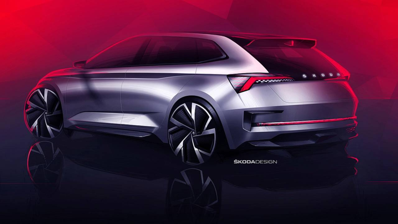 SKODA UNVEILS SKETCHES OF ITS UPCOMING HATCHBACK