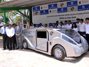Solar powered car unveiled by Manipal Institute and Tata Solar Power
